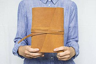 Papiernictvo - Kožený zápisník Adam - 8272573_