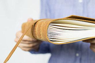 Papiernictvo - Kožený zápisník Adam - 8272583_