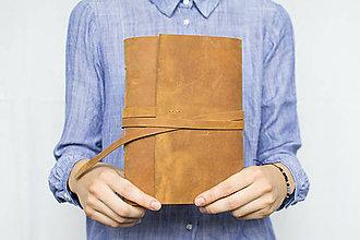 Papiernictvo - Kožený zápisník Adam - 8272640_