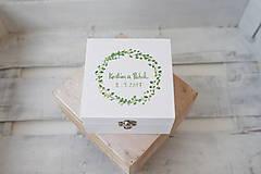 Prstene - Svadobná krabička v zelenom/ k oznámeniu - 8273712_