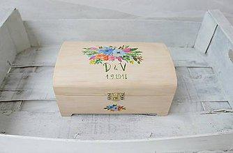 Krabičky - Krabička na svadobný stôl/ na želanie - 8273716_
