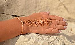 Náramky - Náramok zlatý, kvietkovaný - 8273374_