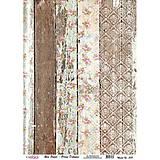 Papier - Ryžový papier A3, č. 388, zodraté dosky s ružičkami - 8276377_