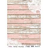 Papier - Ryžový papier A3, č. 401, zodraté dosky s čipkou - 8276404_