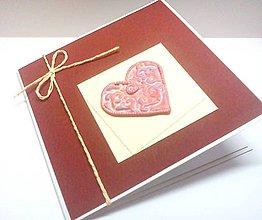 Papiernictvo - Pohľadnica ... ♥ pečať lásky - 8277104_