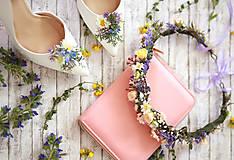 Ozdoby do vlasov - Kvetinový venček z lúčnych kvetov - 8277942_