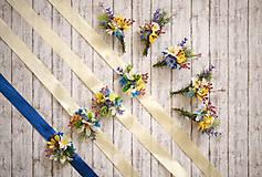 Náramky - Kvetinový náramok pre družičky lúčne kvety - 8278024_