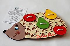 - Prišívacia hračka ježko s MENOM dieťatka - 8276946_