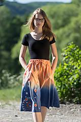 Sukne - Sukňa šitá, batikovaná, maľovaná, etno UŠAS - 8276648_