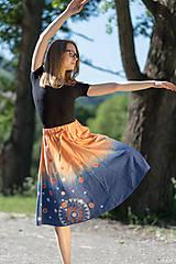 Sukne - Sukňa šitá, batikovaná, maľovaná, etno UŠAS - 8276653_