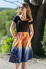 Sukne - Sukňa šitá, batikovaná, maľovaná, etno UŠAS - 8276660_