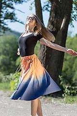 Sukne - Sukňa šitá, batikovaná, maľovaná, etno UŠAS - 8276678_