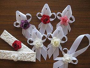 Darčeky pre svadobčanov - Svadobné pierko rúžičkové - 8276693_