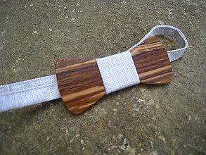 Iné doplnky - drevený motýlik - 8277958_