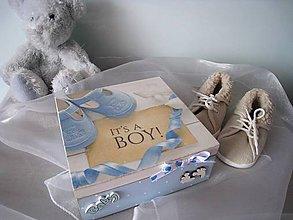 Krabičky - drevená krabička - 8278083_