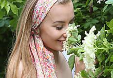 - Kvetinová šatka do vlasov/krku na leto s náušničkami - 8276247_