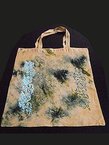 Nákupné tašky - ľanová taška, batikovaná - 8275430_