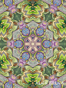 Obrazy - Kaleidoskop Cesta hájom 30x40cm Art Print na papieri - 8277718_