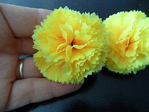 Náušnice - kvetinkové klipsové náušnice - 8276837_