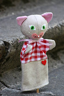 Hračky - Maňuška. Zvieratko Mačka Cilka. - 8276375_