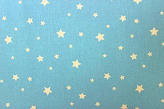 Textil - Bavlna hviezdičková belasá - 8275262_