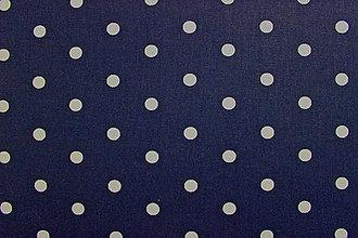Textil - Bavlna bodkovaná tmavomodrá - 8275266_