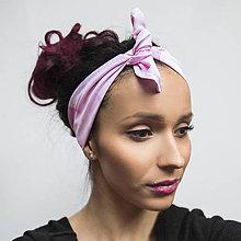 Šatky - ZĽAVA 30 %Handmade šatka/čelenka Pink Flamingo - 8277807_