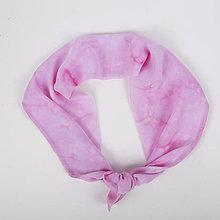 Šatky - ZĽAVA 30 %Handmade šatka/čelenka Pink Flamingo - 8277808_