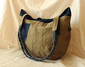 Veľké tašky - Olivovo - modrá riflová :O) - 8277565_