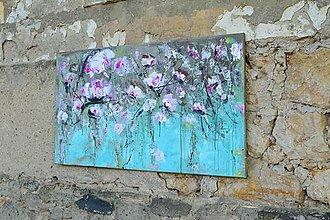 Obrazy - kvetinové zátišie 120*65 - 8275223_