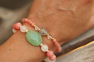 Náramky - Náramok z minerálov jadeit - 8275237_