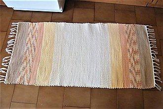 Úžitkový textil - Tkaný koberec žlto-hnedý - 8275432_