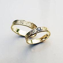 Prstene - Sculptural wedding bands - 8278664_