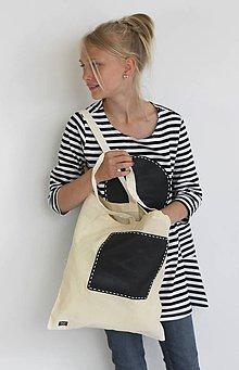 Nákupné tašky - Taška s tabuľkou - prírodná - 8280283_