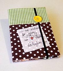 Papiernictvo - Zápisník - Pre pani učiteľku (/ žltý gombík) - 8278656_
