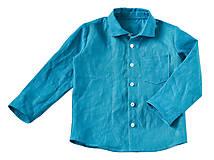 Ľanová košeľa modrá