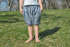 Detské oblečenie - Háremky TEO sivé - 8279691_