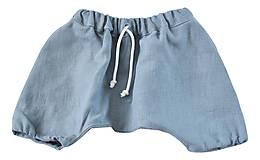 Detské oblečenie - Háremky TEO sivé - 8279693_