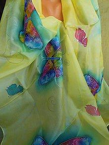Šatky - motýle - 8280933_