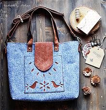 Veľké tašky - Folk šopr bag V. - 8281250_