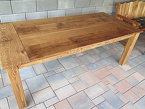 Nábytok - Dubový rustikálny stôl, kartáčovaný - 8278975_