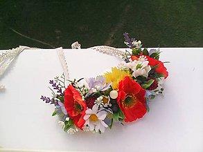 Náhrdelníky - Kvetinový náhrdelník z lúčnych kvietkov