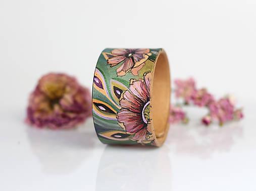 Náramky - Kožený náramok