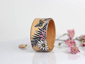 Náramky - Kožený dámsky náramok