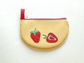 Taštičky - Ovocná taštička jahodová - 8278892_