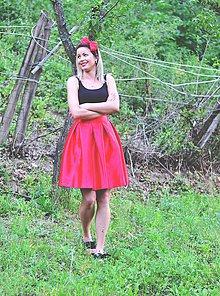 Sukne - Skladaná midi sukňa LS - 8279257_