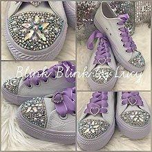 Obuv - Ručne zdobené svadobné tenisky z kolekcie Lavender - 8279104_