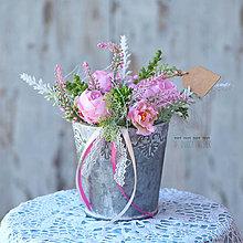 Dekorácie - Ružový kochlík - 8281092_