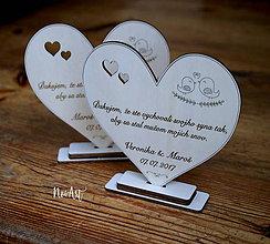 Darčeky pre svadobčanov - Srdiečko Poďakovanie rodičom 28 - 8281657_