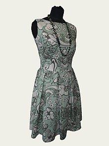 Šaty - ľanové šaty kvetinové - 8282664_
